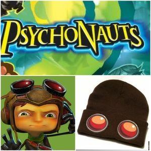 Psychonauts Beanie Brown Knit Cap One Size